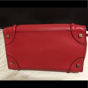 Celine Bags - Authentic Celine MINI  Luggage  Vermillion